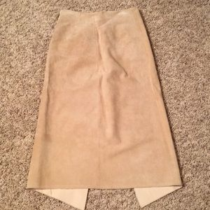 Skirts - Suede tan skirt